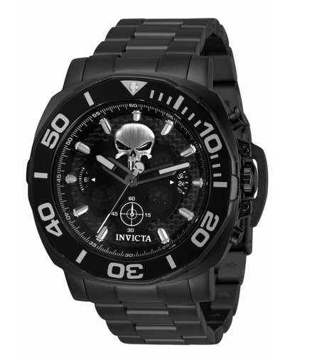 Invicta Marvel Punisher Men's 48mm Limited Carbon Fiber Chronograph Watch 35093-Klawk Watches