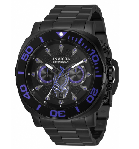 Invicta Marvel Black Panther Men's 48mm Limited Edition Chronograph Watch 35097-Klawk Watches