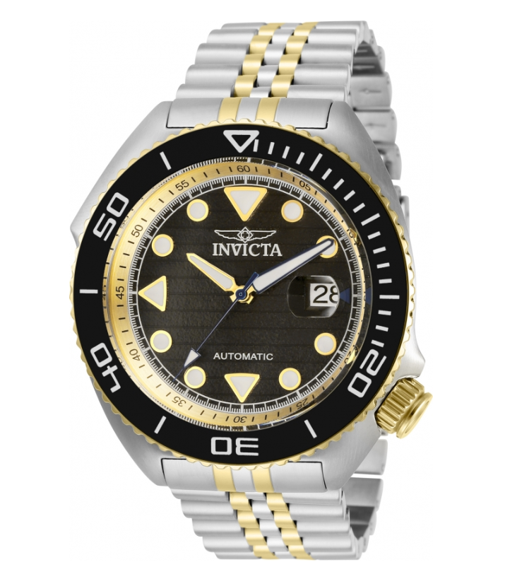 Invicta Pro Diver Sea Wolf Automatic Men's 47mm Black Dial Gold Watch 30417-Klawk Watches