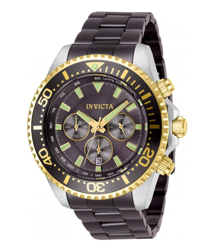 Invicta Pro Diver Men's 47mm Two-Tone Gold Accent Chronograph Watch 27477 RARE-Klawk Watches