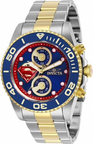Invicta DC Comics Superman Men's 43mm Limited Edition Chronograph Watch 29063-Klawk Watches