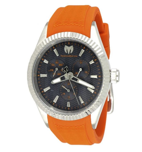 TechnoMarine Sea Dream Men's 42mm Orange Multi-Function Watch TM-719023 Rare-Klawk Watches