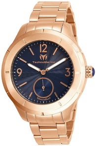 Technomarine MoonSun Men's 42mm Rose Gold Stainless Blue Dial Watch TM-818003-Klawk Watches