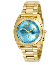 Invicta Angel 23753 Women's 38.5mm Teal Dial Gold Multi-Function Quartz Watch-Klawk Watches