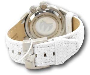 TechnoMarine Sea Dream Women's 42mm Dual-Time White Leather Watch TM-716003-Klawk Watches