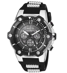 Invicta Bolt Men's 52mm Black Textured Dial Silicone Chronograph Watch 25470-Klawk Watches