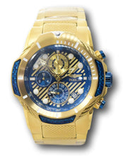 Load image into Gallery viewer, Invicta Bolt Men's 51mm Gold With Blue Carbon Fiber Chronograph Watch 31177 RARE-Klawk Watches