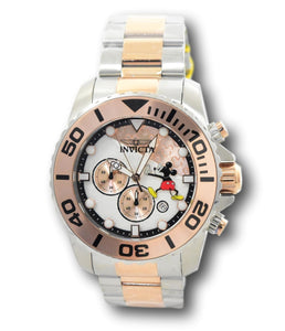 Invicta Disney Limited Ed Men's 50mm Mickey Rose Gold Chronograph Watch 324456-Klawk Watches