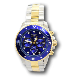 Invicta Pro Diver Men's 45mm Blue Dial Gold Two-Tone Chronograph Watch 30749-Klawk Watches