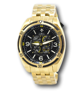 Invicta Aviator Bolt Flight Series Men's 4 Dials 50mm Gold Stainless Watch 28087-Klawk Watches