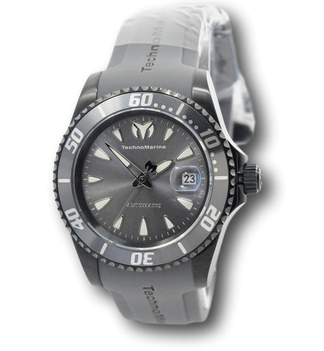 TechnoMarine Sea Manta Automatic Men's 42mm Gray Miyota Silicone Watch TM-219091-Klawk Watches