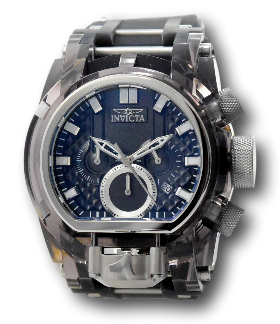 Invicta Bolt Zeus Magnum 52mm Anatomic Dual Dial Chronograph Watch 34877 Rare-Klawk Watches