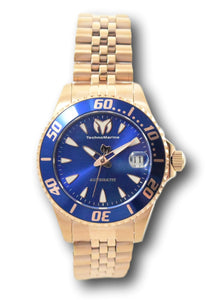 TechnoMarine Sea Manta Automatic Womens 38mm Rose Gold Blue Dial Watch TM-219066-Klawk Watches