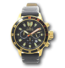 Load image into Gallery viewer, Invicta I-Force Men's 46mm Gold Stainless Black Leather Chronograph Watch 31397-Klawk Watches