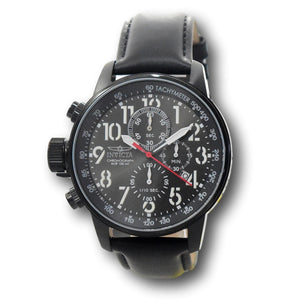 Invicta I-Force Men's 46mm Gunmetal Dial Black Leather Chronograph Watch 28742-Klawk Watches