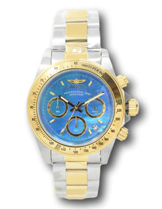 Invicta Avaitor Men's 52mm Blue Carbon Fiber Gold Chronograph Watch 22264 Rare-Klawk Watches