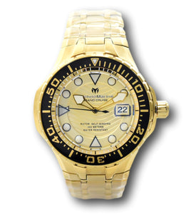 TechnoMarine Blue Reef Grand Cruise Automatic Men's 48mm Gold Watch TM-118076-Klawk Watches