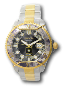 Invicta Pro Diver U.S. Army Automatic Men's 47mm Camouflage Watch 31852-Klawk Watches
