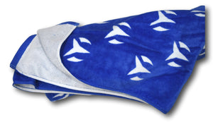 "TechnoMarine Oversized Beach Towel 72""x 40"" 100% Cotton Blue and White TM-PM-001-Klawk Watches"