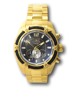 Invicta Bolt Mens 52mm Gold Stainless Miyota Chronograph Movement Watch 31475-Klawk Watches