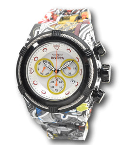 Invicta Bolt Hydroplated Men's 54mm Graffiti Swiss Chrono Watch 34714 Rare-Klawk Watches
