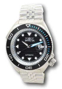 Invicta Pro Diver Sea Wolf Automatic Men's 47mm Black Dial Stainless Watch 30410-Klawk Watches