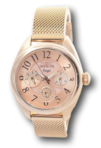 Invicta Angel Women's 35mm Rose Gold Multi-Function Mesh Band Watch 27454 Rare-Klawk Watches