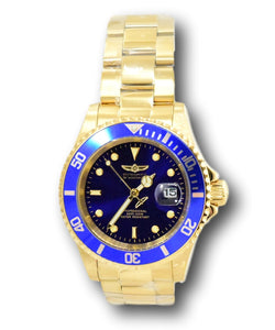 Invicta Pro Diver Men's 40mm Blue Dial Gold-Tone Stainless Quartz Watch 26974-Klawk Watches