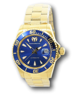 TechnoMarine Sea Manta Automatic Men's 42mm Gold Blue Dial Watch TM-219074-Klawk Watches