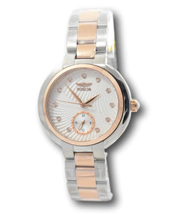 Invicta Angel Women's 36mm Rose Gold Two-Tone Textured Dial Crystals Watch 31198-Klawk Watches