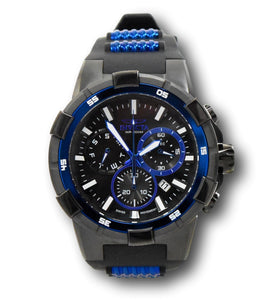 Invicta Aviator Men's 51.5mm Double Black / Blue Swiss Chronograph Watch 25859-Klawk Watches