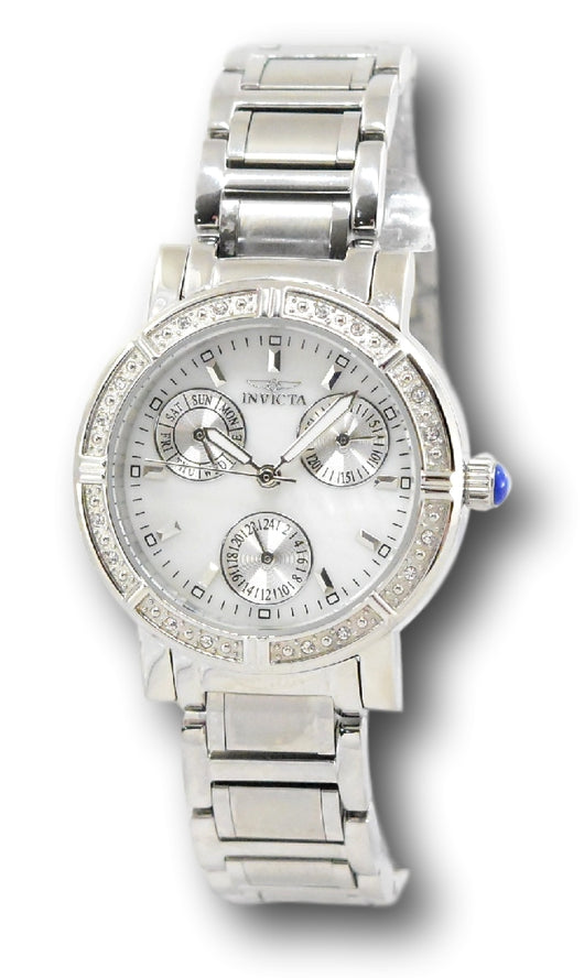 Invicta Angel 29118 Women's 33mm Crystal Mother of Pearl Multi-Function Watch-Klawk Watches