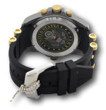 Load image into Gallery viewer, Invicta US ARMY Men's 50mm Titanium Case 4-Time Zones Black & Gold Watch 31968-Klawk Watches