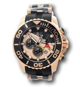 Invicta Disney Limited Edition Men 50mm Rose Gold Mickey Chronograph Watch 32475-Klawk Watches