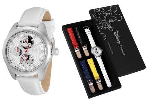 Invicta Disney Limited Edition Women's 38mm Silver Mickey Watch Band Set 34093-Klawk Watches