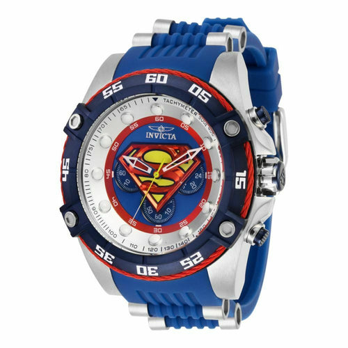 Invicta DC Comics Superman Mens 52mm Limited Chronograph Watch 29121 Yellow Box*-Klawk Watches