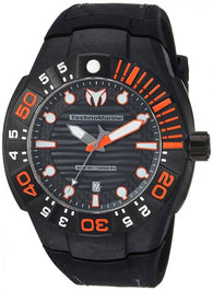Technomarine Black Reef Men's 48mm Carbon Fiber Swiss Quartz Watch TM-515028