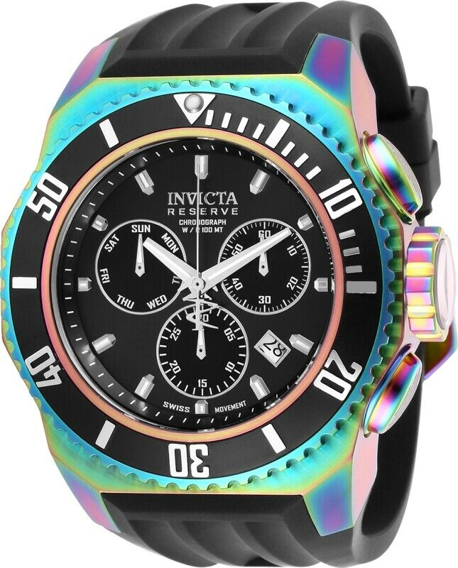 Invicta Reserve Russian Diver Men's 52mm Iridescent Chronograph Watch 25734-Klawk Watches