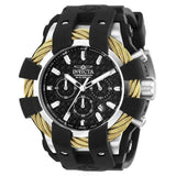 Bulova Precisionist Men's Black Stainless Leather Chronograph Watch 96B259-Klawk Watches