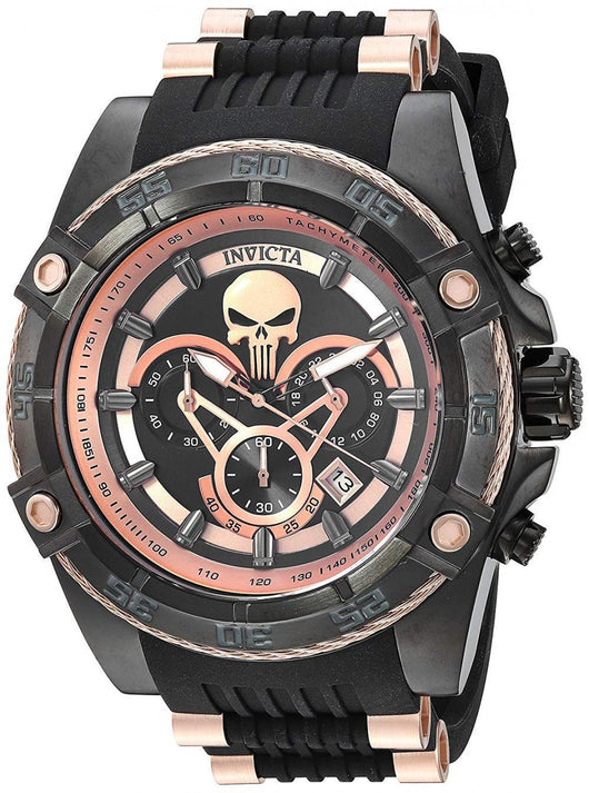 Invicta Marvel Punisher Limited Edition Rose Gold Chronograph Watch 26861-Klawk Watches