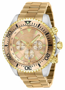 Invicta Pro Diver 27475 Men's Mixed Gold Two-Tone Chronograph Watch 47mm-Klawk Watches