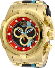 Invicta Reserve Zeus Bolt Race Team 29053 Leather Swiss Chronograph Watch 53mm-Klawk Watches