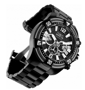 Invicta Bolt Vortex Tri-Cable Men's 52mm Black Stainless Chronograph Watch 27270-Klawk Watches
