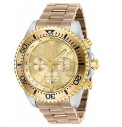 Invicta Pro Diver 27476 Men's 47mm Gold Two-Tone Stainless Chronograph Watch-Klawk Watches