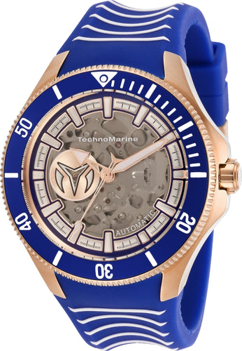 TechnoMarine Cruise Shark Automatic Men's 47mm Rose Gold & Blue Watch TM-118024-Klawk Watches