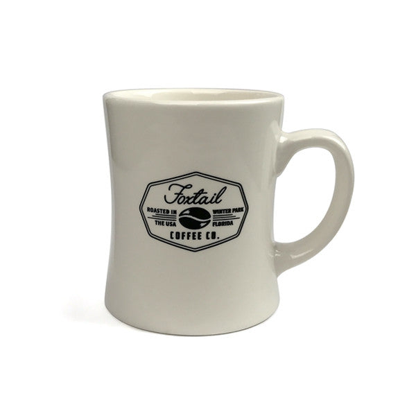 Retro Porcelain Diner Mugs W/ Logo (Natural Color)