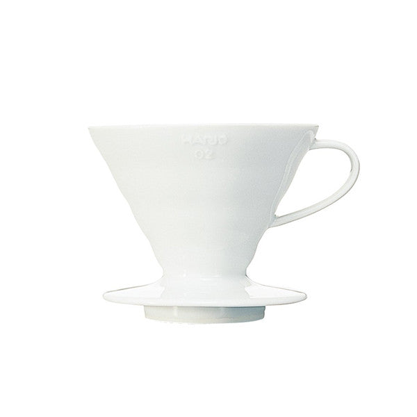 Hario V60 Ceramic Coffee Dripper (Size 02, White)