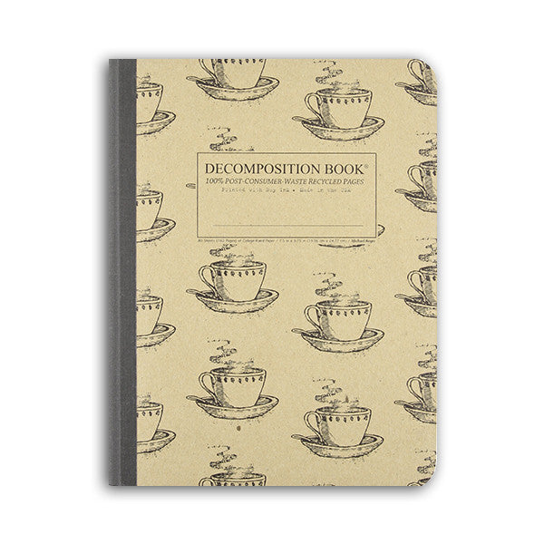 Coffee Cup Decomposition Book: College-ruled Composition Notebook