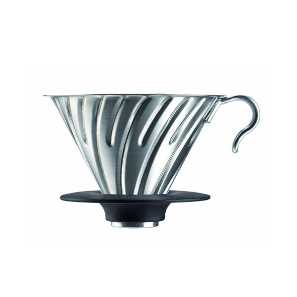 Hario V60 Metal Coffee Dripper (Size 02, Silver)