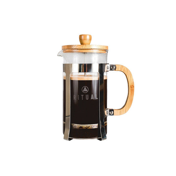 French Press by Ritual, Stainless Steel and Bamboo Design 9 cup Coffee Press Maker (36 Oz)